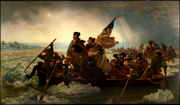 December 25 — Washington crossing the Delaware, not Old Nick Santa Claus!